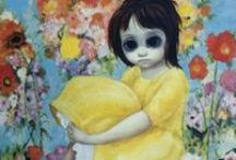 Margaret Keane Artwork/Big Eye Artwork / Please re-pin anything you like, as many as you like. I am not one of those selfish Pinners who wants to own all my pictures. I love to share and am happy to share my pins with anyone. Margaret Keane Artwork / by Glenda Welch