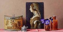 Ingrid Smulling / Fijnschilder van realistische stillevens met nostalgische voorwerpen.  Klassieke schilderijen van met liefde geobserveerde voorwerpen, weergaloos in hun sfeer.