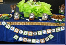 Dinosaur Party / Dinosaur themed birthday party ideas