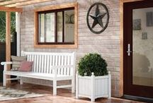 Texas Architectural Design / Texas homes with beautiful windows and patio doors.