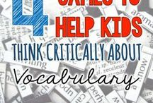 Vocabulary / Vocabulary: one of five essential building blocks for proficient reading.  Ideas for helping readers increase vocabulary.