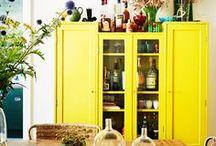 Y E L L O W I N T E R I O R S / Mellow yellow homes