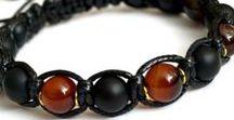 Men's Gemstone Shamballa Bracelet, Macrame / Stylish Gemstone Shamballa Bracelets for Men, Gift for Men, Macrame Bracelets