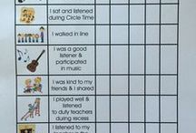 Monitoring Student Behaviour / Inspiration for visual charts, plans and checklists aimed at Early Years Students.