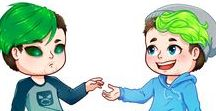 ANTISEPTICEYE, DARKIPLIER, JACKSEPTICEYE AND MARKIPLIER