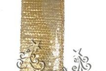 Gold & Silver / Collection of gold and silver decorations, ribbons, mesh and more at http://www.trendytree.com / by Trendy Tree