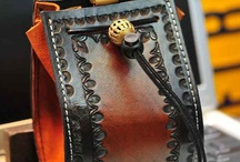 Custom Leather Goods: I make / Goods made by hand, one at a time: Leatherwork, Leather goods, men's wallets, knife sheaths, belts, custom tooling