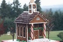 All things Gingerbread / Collection of whimsical gingerbread houses and ideas. Many products and decorations at http://www.trendytree.com / by Trendy Tree