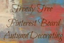 Autumn & Fall Ideas / Collection of autumn and fall decorating with pumpkins, branches, twigs, items from nature. Many products from http://www.trendytree.com / by Trendy Tree