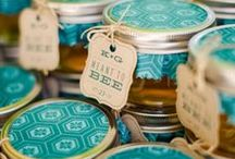 WEDDING FAVORS / Wedding decorations and favors using bottles, jars, and tins.