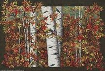 "Landscape & Art Quilts / Nature is the original inspiration. Nancy Zieman, of TV's ""Sewing With Nancy,"" has pinned a few favorite quilts that capture Landscape and Art Quilts. / by Nancy Zieman"