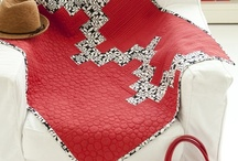 Sew Red / Love Red.  Love Sewing.  PBS Television show host, Nancy Zieman, pins a few inspiring red stitched designs.