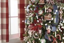 Christmas Tree Inspiration / Stunning decorated Christmas trees. Visit http://www.trendytree.com to see thousands of Christmas decorations. Tree inspiration from RAZ and others, some will include mantel and window ideas. Some products will no longer be available but ideas never go out of stock! #christmastree #TrendyTree