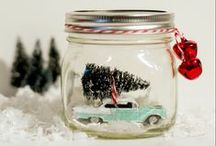 HOLIDAY CRAFTS / Holiday crafts using jars, bottles and containers