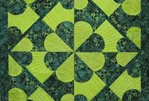 """Quilts made with Carefree Curves / Carefree Curves is a method, technique and tool to create perfect, easy stitched curves in quilting designs.  See projects created in this manner here.  The board is curated by Nancy Zieman, of PBS's """"Sewing With Nancy"""" television show."""