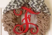 Trendy Tree Burlap Wreaths by Custom Designers / Collection of wreaths created by customers of Trendy Tree using burlap, burlap ribbons and trims. Thousands of products for wreath making at http://www.trendytree.com
