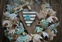 Valentine Wreaths made by Trendy Tree Customers / Collection of Valentine wreaths created by customers of Trendy Tree. http:://wwwtrendytree.com where supplies for wreath making are available - forms, mesh, burlap, ribbons, RAZ Christmas, Halloween, Easter, Spring and Summer decor. / by Trendy Tree