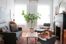 Living Room / We spend most of our time in the living room or family room. Loving the inspiration here for any family room or living room