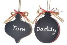 Chalkboard Rocks! / Chalkboard products including wall hangings and ribbons at http://www.trendytree.com / by Trendy Tree