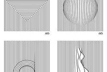 dots, line, square