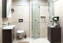 Řešení Malá koupelna / Umístit do malého prostoru koupelny všechno potřebné vybavení je výzva! Umíme se s ní vypořádat. To je řešení Malá koupelna.