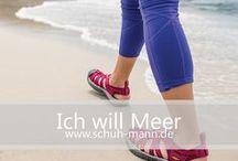 Ich will Meer // www.schuh-mann.de / Sommerzeit ist auch gleichzeitig für die meisten von uns Urlaubszeit und es gibt unzählige Möglichkeiten die wohlverdienten, freien Tage zu verbringen. Baden im Meer, Wandern in der Wildnis oder ein Sightseeing-Trip in der Metropole - Für jeden von uns gibt es das perfekte Urlaubsziel. Die passenden Schuhe für jede Reise findest du auf www.schuh-mann.de!