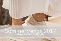 Sommertrends 2017 // www.schuh-mann.de / Der Sommer 2017 steht im Zeichen der Leichtigkeit. Zarte Farben, cleane Designs und leichte Stoffe lassen uns schweben. Schuhe werden durch zarte Metallic-Optiken in Silber, Gold oder Rosé-Gold zum echten Hingucker. Besonders beliebt sind flache und sportliche Schuhe und damit schlägt die Stunde von Slippern, Schnürern, Ballerinas und Sneakern.