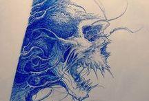 cool skulls drawings