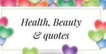 Health, Beauty & Quotes / Health, Beauty & Quotes from my Instagram account, enjoy xx