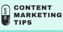 Content Marketing Tips, Ideas and Practices - DrSoft / Posts about how to come up with content marketing ideas, what mistakes to avoid, what content drives traffic to your website, what content types to use on social media platforms. Everything you need to create a successful Content Marketing Strategy.