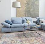 Sofa BLADE / Polstermöbel in Hellblau