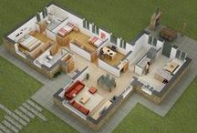 Interactive 3D Floor Plans / Yantram Studio Provide 3D Floor Plan services, architectural plan rendering, 3D Site Plan design firm, modern floor plans, floor plans house, floor plans ideas and 3D Sections Plan.