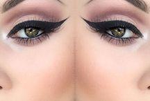 Make-Up, Bold Lips, Eye Brows, Winged Liner, / by Priscilla Sosa