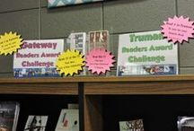 Lib displays / Looking for ways to get kids in to check out books?  This board has tons of ideas for the library.