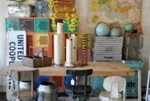 DECOR: Junk / Creative and inventive decorating with junky and repurposed items.