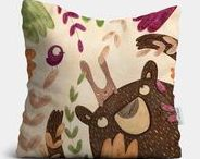Throw Pillows / Big dreams await! Mouse + Magpie throw pillows provide comfort and support with loveable patterns and colorful designs that tie the whole room together.