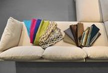 Fabric Applications / This board is made up of examples of our fabrics made up on furniture in the field, show casing the fabrics' beauty and versatility.