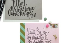 Graphics[Paper Products] / invitations,envelopes,liners,printable and typography/handletter
