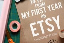 ETSY & HANDMADE BIZ / tips for selling your handmade stuff online!