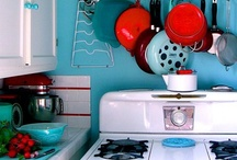 {Kitchen.} / I want a retro/fun/funky/cupcake themed kitchen. A place to eat cupcakes, laugh and have a good time.