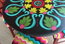 Painting Chick Painted Furniture / See more of my work at www.paintingchick.com  Look for Painting painted furniture, Chick on Facebook and Instagram!