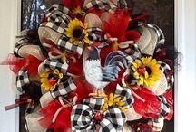 Wreaths and Door Hangers / by Debbie Story