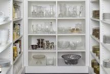 Butler Pantries / butler pantry, butler pantry ideas, butler pantry inspiration, white butler pantry, coffee station, serving pieces, butler pantry storage, glassware, butler pantry cabinetry, butler pantry cabinets, butler pantry shelving, butler pantry organization, organized butler pantry