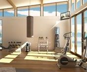 Home Gyms & Sport Courts / home gym, indoor home gym, home gym ideas, home gym inspiration, indoor basketball court, basketball court, home basketball court, home work out room, home gyms, luxury home gym, luxury home gym ideas, luxury indoor home gym, sport court