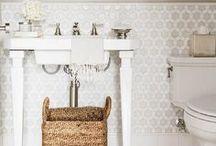 Powder Rooms / powder room, powder room design, powder room decor, powder room ideas, powder room inspiration, bathroom ideas, bathroom inspiration, bathrooms, neutral bathrooms, pretty bathrooms, neutral powder room, kohler, moen, bathroom design,