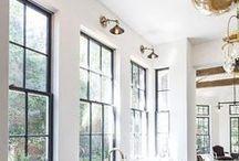 Windows / window, window treatments, window ideas, window trim, natural light, window boxes, window seat, tall windows, window shades, valance, shades, shutters, blinds, curtains, window treatment, window frame, window pane