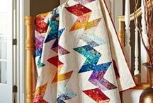 Show Off Quilts in Style / See more ways to display quilts here: http://www.allpeoplequilt.com/projects-ideas/decorating/index.html / by American Patchwork & Quilting