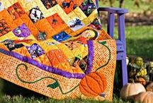 Fall Sewing Projects / These festive fall and Halloween projects are the perfect addition to your seasonal decor! Find more projects at allpeoplequilt.com/holiday-quilts/fall.