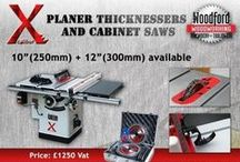 New Woodworking Machines / New Xcalibur machines, Planer Thicknessers, Edge Banders, Corner Rounding Machine, Cabinet Saw, Panel Saw, Tilting Arbor Table Saw, Spindle Sander,  / by Woodford Woodworking Tools and Machines UK.