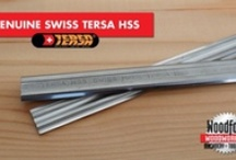 Swiss Tersa HSS Blades / We proudly offer genuine Tersa™ Planer Knives to insure our customers get top quality and performance. Tersa™ Planer Knives are a high quality product made for professionals. SCM, Rojek,Wadkin, Axminster,Weing, Sedgwick, Martin Our original Tersa™ Planer Blades have the Tersa™ name edged on the blades and are packaged in a distinctive cardboard sleeve.  / by Woodford Woodworking Tools and Machines UK.
